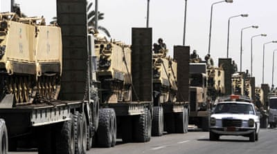 Egypt's military says 52 fighters killed in the Sinai Peninsula