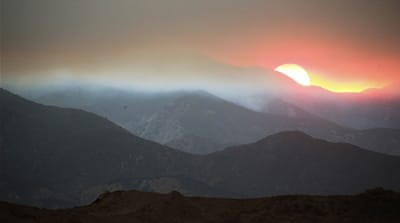 Air-quality alerts issued in US as wildfires continue to burn