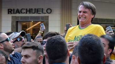 Brazil: Stabbed candidate recovering, leads opinion poll