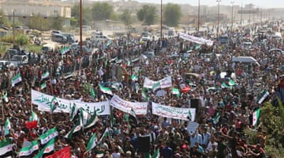 Thousands rally against looming offensive on northwest Syria