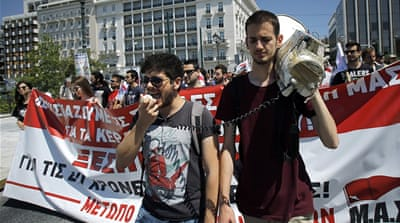 Greece is done with the bailout. Young people say crisis not over
