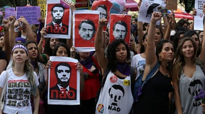 Brazil: Thousands of women rally against far-right Bolsonaro