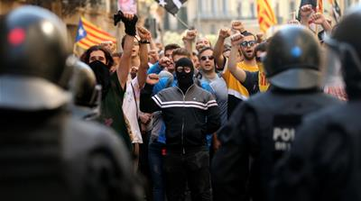 Catalan leaders remain in jail year after independence referendum