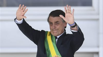 Jair Bolsonaro: Brazil's far-right leader sworn in