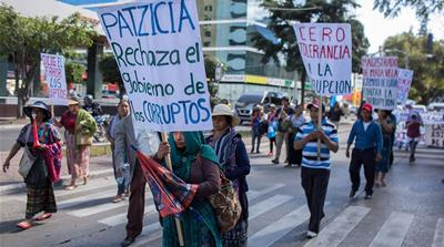 Guatemalans protest gov't decision to kick out anti-graft body
