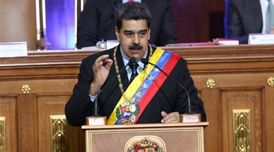 Venezuela's President Nicolas Maduro speaks during a special session of the National Constituent Assembly [Reuters]