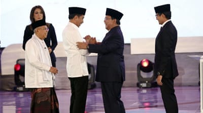 Indonesia presidential candidates trade barbs in first debate