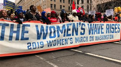 Women's March 2019: Thousands across the US march for third year