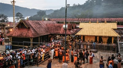 Two Indian women enter Sabarimala temple in Kerala amid protests