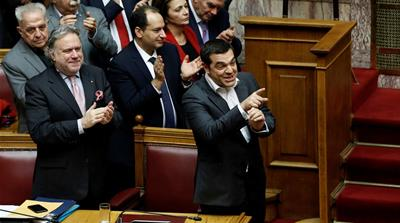 Greek parliament approves Macedonia's new name