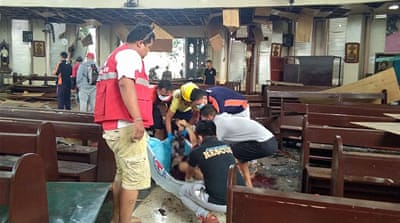 Philippines church bombing: Twin blasts hit Jolo cathedral