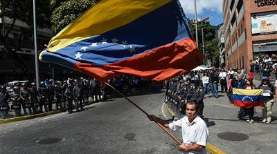 Venezuelans call for humanitarian aid as political crisis deepens