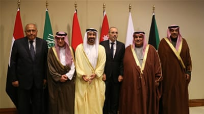 Six Arab foreign ministers meet in Jordan 'to align policy'