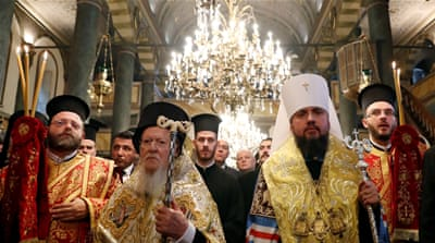 Ukraine church's historic split from Russia granted by patriarch