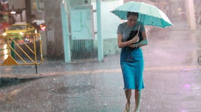 Southeast Asia records unusual January rain