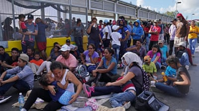 Asylum seekers occupy US-Mexico border bridge, crossing closed