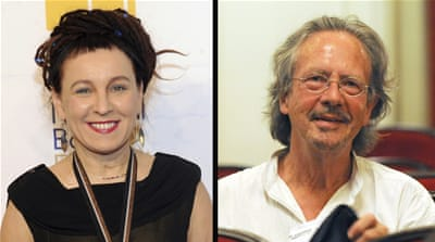 Olga Tokarczuk and Peter Handke win Nobel literature prizes