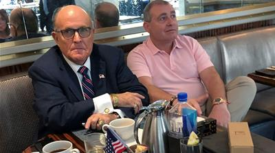 Rudy Giuliani has coffee with  Lev Parnas