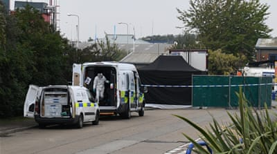 In Pictures: Lorry found with 39 bodies in southeast England