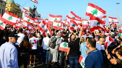 In Pictures: In Beirut, a revolution in unity over corruption