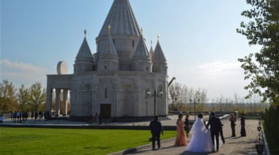 Inside the world's biggest Yazidi temple in Armenia
