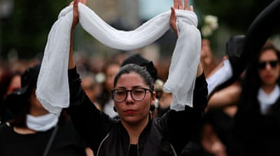 Chilean women hold 'march of silence' for those killed in unrest