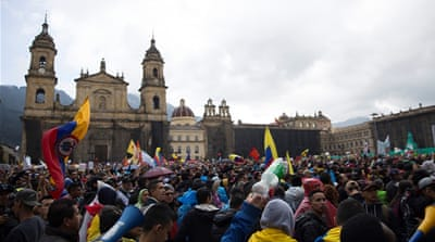 'Referendum on Duque': Thousands march against Colombia president