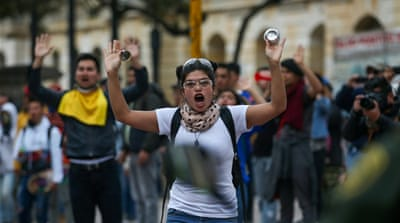 Fear grips Colombia protesters as anti-gov't rallies turn violent