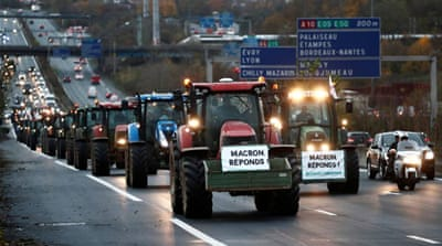 French farmers take to streets to save their fields