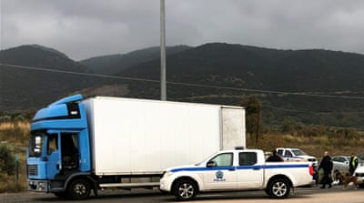 Dozens of migrants found alive in truck in northern Greece