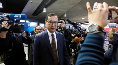 Cambodia's Sam Rainsy faces hurdles as he attempts to return home