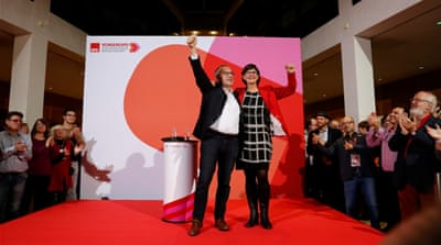 Ruling German coalition in question after SPD elects new leaders