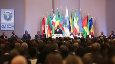 14 months after stroke, Gabon's Bongo opens regional summit