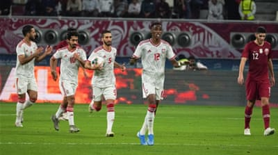 How Qatar's win over UAE unfolded in pictures