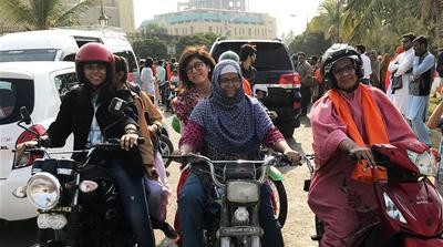 Easy rider: Motorcycles help Pakistani women bypass harassment