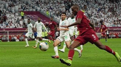 Qatar v Saudi Arabia: Dramatic Gulf Cup semifinal in 10 pictures