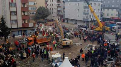 Turkey detains three over Istanbul building collapse: Report