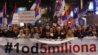 'One in five million': Protesting Serbia's muzzled media