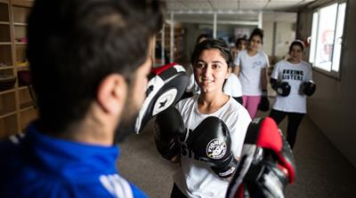 The 'Boxing Sisters' of Rwanga refugee camp