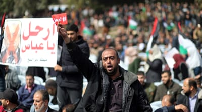 Gaza protesters call on Mahmoud Abbas to quit