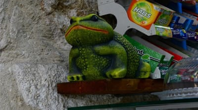Portuguese shopkeepers using ceramic frogs to 'scare away' Roma