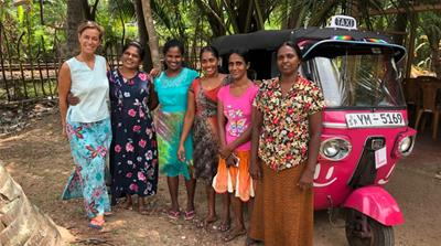 The pink tuk-tuks of Sri Lanka empowering and protecting women