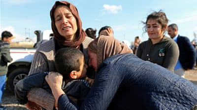 Yazidis held captive by ISIL reunite with their families in Iraq