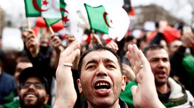 What will end the protests in Algeria?