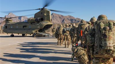 Soldiers head out on a mission in Afghanistan, January 15, 2019. 1st Lt. Verniccia Ford/U.S. Army/Handout via REUTERS  [Reuters]