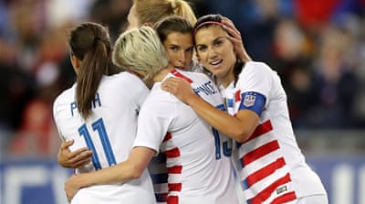 US women's football team players sue over gender discrimination