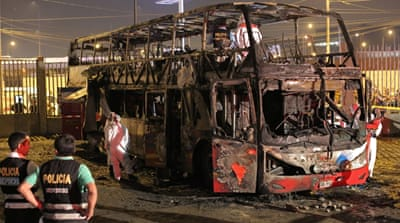 At least 17 killed in Peru bus fire: officials