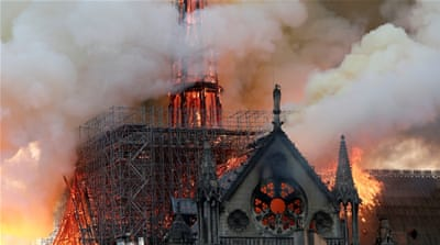 Notre Dame fire: 'France is crying and the whole world, too'