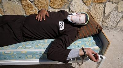 A Palestinian hunger strike: 'Bury me in my mother's grave'