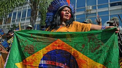 Indigenous groups in Brazil march for land rights